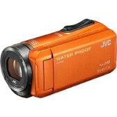 【★★】【送料無料】VICTOR(ビクター) GZ-R300-D SD対応 32GBメモリー内蔵 5m防水・防塵・耐衝撃フルハイビジョンビデオカメラ(オレンジ)【kk9n0d18p】