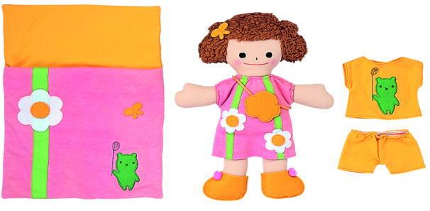 布製きせかえ人形あそびセット(3体)