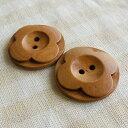 ナチュラル満点!木のボタン30mm×2ヶ入 WM126【激安特価】【木/ウッド】【釦/ボタン】【天然/ナチュラル】【おしゃれ/かわいい】【パーツ】