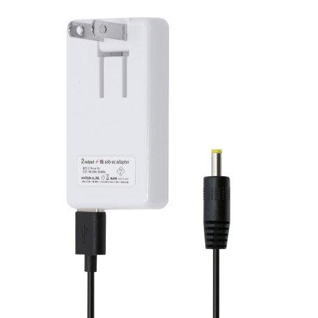 PSPを充電できるセット2ポートUSB搭載USB-ACアダプタとPSP充電ケーブル[1m]セットネコポス送料無料