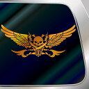 ドクロ ステッカー スカル ステッカーデカール ステッカー(18cm×42cm)車 ステッカー バイク ステッカー 台紙が残らない 高耐久 カッティング ステッ...