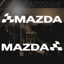 マツダ MAZDA 車 ステッカー チェッカー エンブレム 枠サイズ:3cm×15cm 左右反転セット カッティング スポーツ ドライブ 車用 ドレスアップ 外装 パーツ カー用品 かっこいい デカール ステッカー