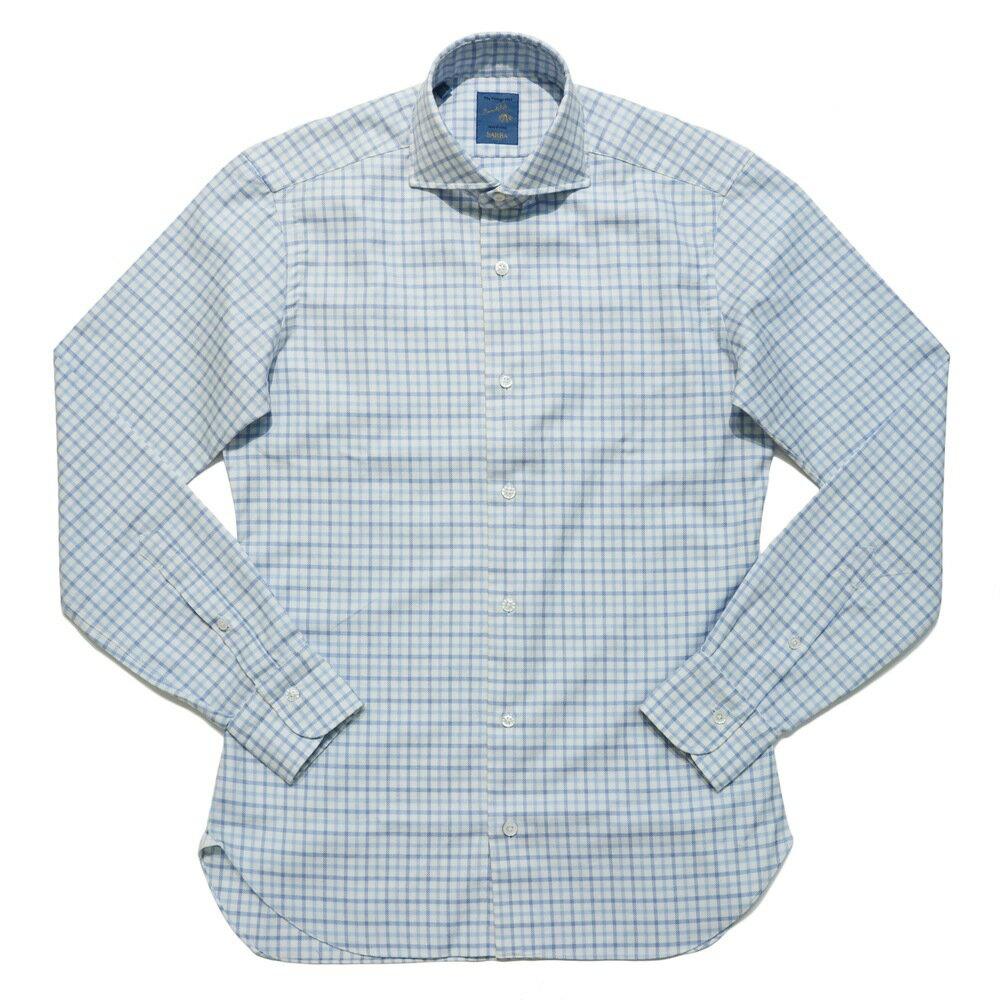BARBA(バルバ)DANDY LIFE NEW BRUNO コットンツイルグラフチェックカッタウェイワイドカラーシャツ 177 11062001022