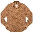 Bagutta(バグッタ)ウォッシュドコットンダイヤプリントオープンカラーシャツ JOHNNY GLR/09088 11091003054