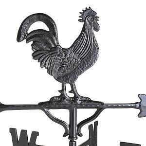 風見鶏【中】雄鶏本格派カザミ錆びないアルミ製NEK210