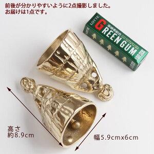 ハンドベルLADY-ML-PB真鍮呼び鈴・テーブルベル・介護用ベル落としても壊れにくい金属製