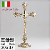 【十字架卓上M】【イタリア製真鍮雑貨】真鍮十字架クロス【卓上台付】M PB教会チャペルウェディング用品JIN540-PB6【asu】【RCP】