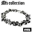 【送料無料】【M's collection エムズコレクション】テンタクルス シルバーブレスレットハード メンズ ブレスレット シルバー925 silver M...