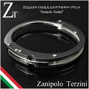 ブラックハンドカフ サージカルステンレス ブレスレット ザニポロタルツィーニ