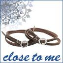 ������̵���ۡ�close to me�ۥ���ե��˥ƥ� �쥶�� �ڥ��֥쥹��å��ܳ� ���� ���륳�˥� �֥쥹��å� �֥쥹 Leather Pair Bracelet ���� �ڥ���...