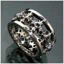 ハード クロスパターン シルバーリング 16〜22号 指輪 リング Ringメンズ レディース 男性女性指輪 プレゼント 人気 かわいい おしゃれ