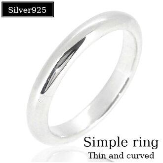 簡單上部圓纖細銀圈 5-21 號男式戒指女士男式女式銀戒指 yubiwa 銀男士女士戒指男士戒指男士戒指
