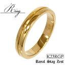 ゴールド リング メンズ 指輪 23金 ロイヤルゴールドプレ...