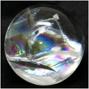 水晶玉 虹入り水晶 水晶 丸玉 天然石 パワーストーン レインボークォーツ 原石 天然水晶■水晶は強い浄化作用やヒーリングなど、様々な効果が伝えられています