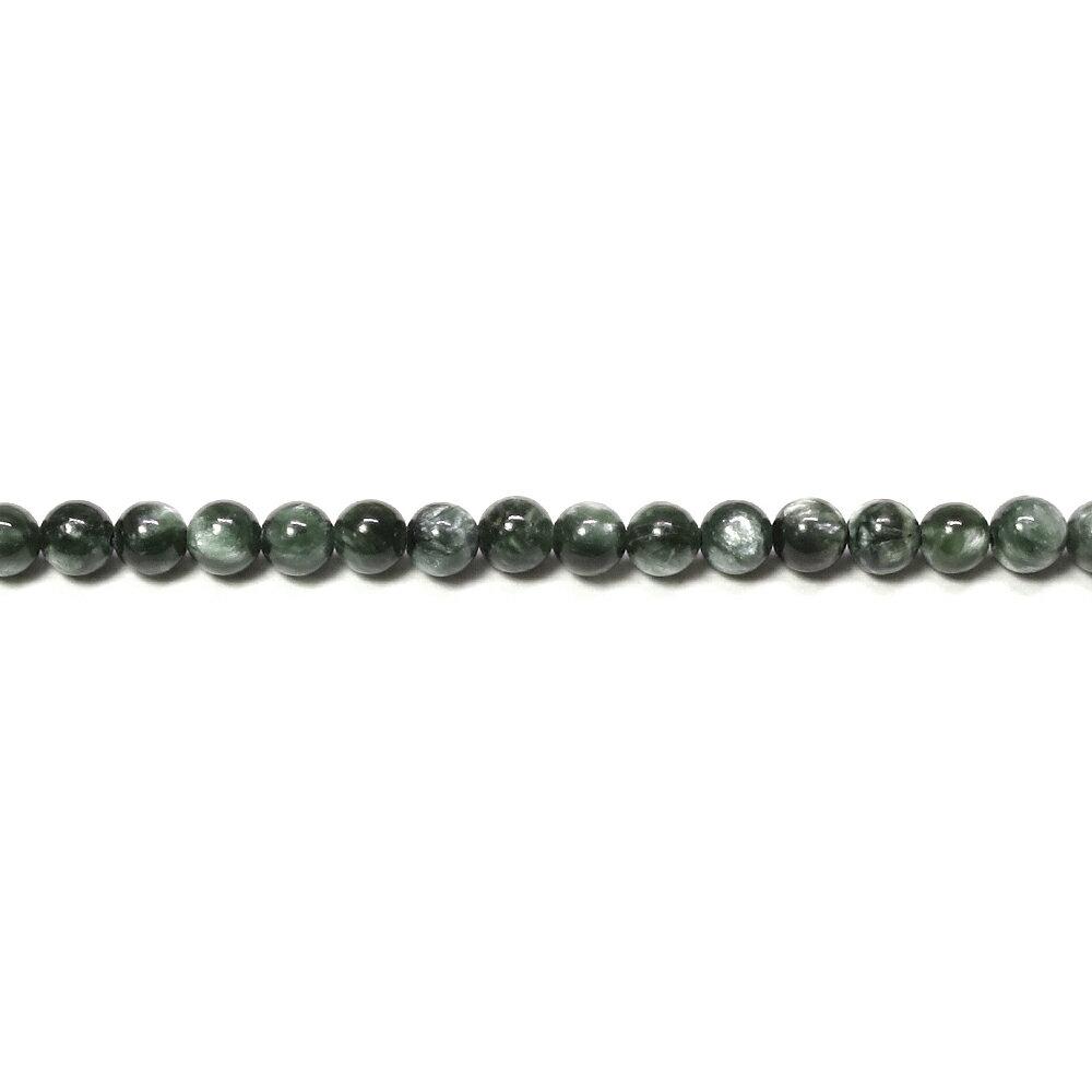 セラフィナイト 4mm 天然石 ビーズ 丸玉 ...の紹介画像2