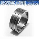 SAVER ONE(セイバーワン)平打ちライン 純チタンリング 7〜21号指輪/リング/ゆびわ/Ring【メール便OK!!】【楽ギフ包装】