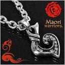 Maori warriors Love 愛 シルバー チャーム シルバー925 メンズ ブランド マオリ モコ 男性 アクセサリー トライバル ニュージーランド ハカ ラグビー メンズネックレス 男性用ネックレス プレゼント 人気 彼氏 おしゃれ