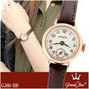 【送料無料】【Grand Jour グランジュール】GJ80 シリーズ スモールセコンド レザーベルト レディースウォッチ アンティーク レディース 腕時計 時計 アクセサリー ジュエリー グラン ジュール GJ80-BR 【ギフトOK】