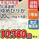 【食フェス開催!】【お得なクーポン配布中!】【乾式無洗米】【送料無料】平成29年産 乾式無洗米 北海道産ゆめぴりか 20kg (5Kgx4)