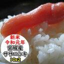 【新米】【玄米】【送料無料】令和元年産 宮城産ササニシキ20kg[1等米] 選べる精米方法