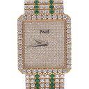 PIAGET ピアジェ 94541C627 レディース K18YG/ダイヤ/エメラルド 腕時計 手巻...