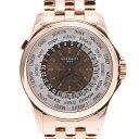 PATEK PHILIPPE パテックフィリップ ワールドタイム 裏スケ 5130/1R-011 メンズ RG 腕時計 自動巻き シルバー/ブラウン文字盤 Aランク 中古 銀蔵