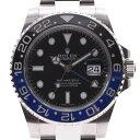 ROLEX ロレックス GMTマスター2 黒/青ベゼル 鏡面バックル 116710BLNR メンズ SS 腕時計 自動巻き 黒文字盤 Aランク 中古 銀蔵