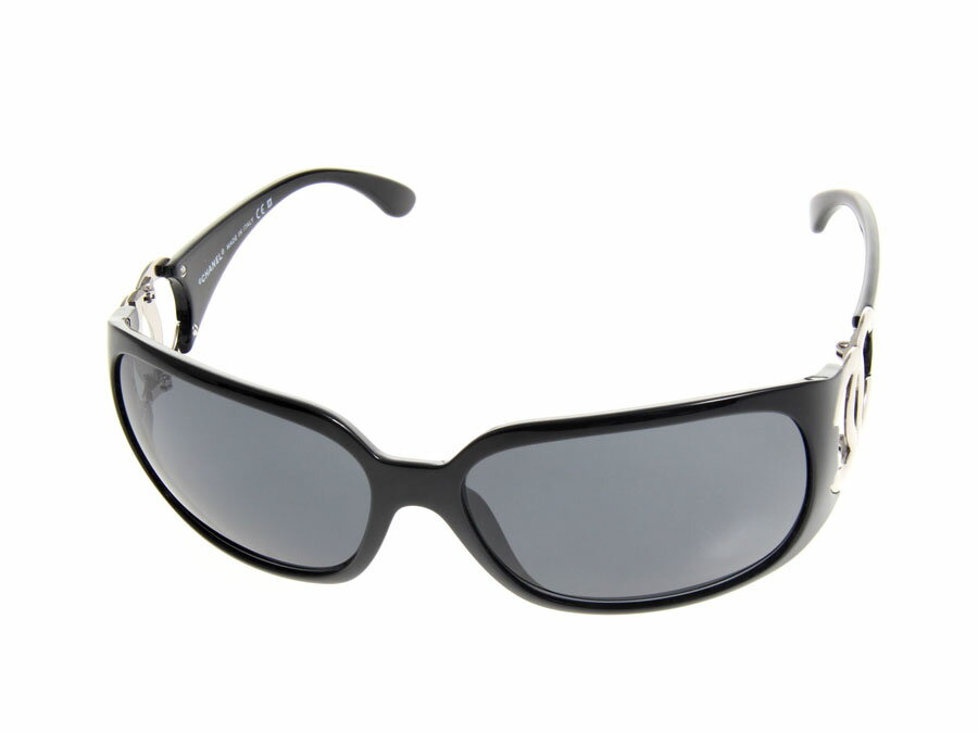 Sunglasses Logo Black And White Said Silver logo black Chanel