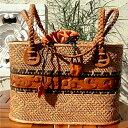 ショッピングかご [クーポン発行中] カゴバッグ 熟練職人手作りアタバッグ本革ハンドル木彫り装飾デザイン(巾着付き)atb0508 プレゼント ギフト 贈り物