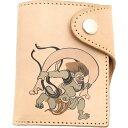 流行包, 飾品, 名牌配件 - 【送料無料】本牛革二つ折り財布和柄ショートウォレット風神dwl8【RCP】【20P05Nov16】