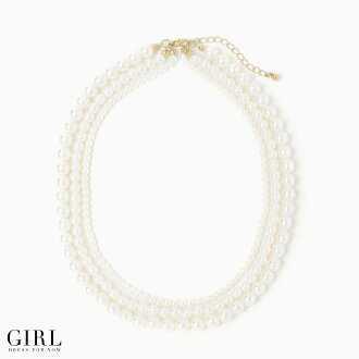 Classic triple Pearl Necklace not too flashy, too sober adult accomplishments necklaces pearl Pearl necklace party party party formal wedding invited PA - Le accessories