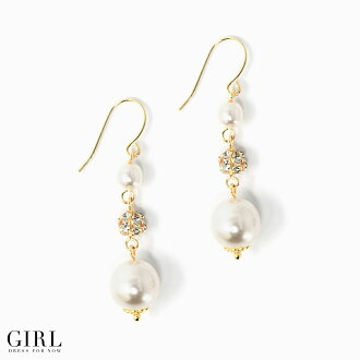 Mail order Rakuten new work pearl for pearl pierced earrings gold hook wedding ceremony pierced earrings party party invite second party graduating students' party to honor teachers ceremonial occasion accessory pearl ladies レデイースレディースレディス women