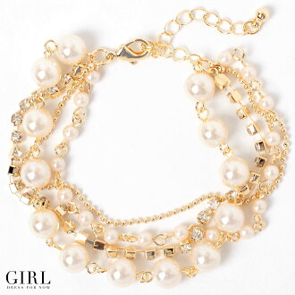Bracelet Pearl & rhinestone four-in hand along Hua party style ornate Pearl pearl blessed breath bracelet party party party formal wedding invited women's Dancewear Store