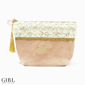 Extended per popular! Embroidered square porch wristlet velour cosmetic pouch makeup, cute your gift pouch pouch cigarette case Smartphone mail order mail order 10P13oct13_b