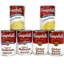 キャンベル チキンヌードル・クリームチキン・マッシュルーム 3種6缶セット