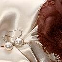 パールフープフピアス プレゼント ギフト  pierce 真珠 アクセサリー 