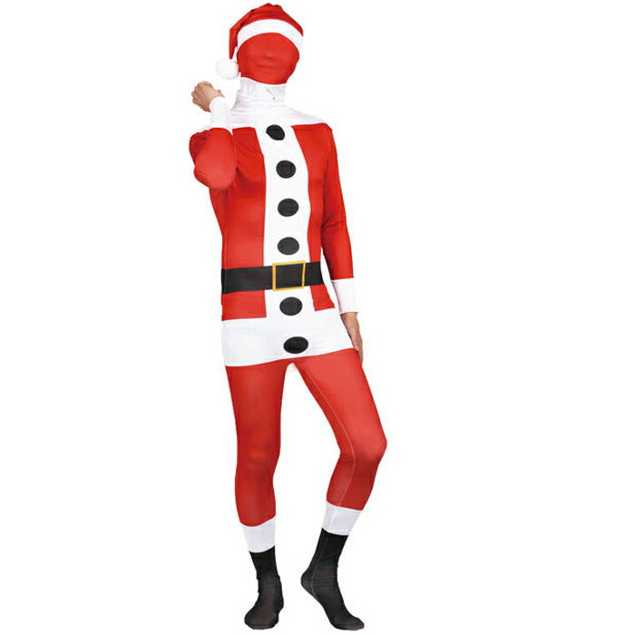 送料無料 あす楽 ハロウィン 衣装 仮装 メンズ コスプレ 大人 The Fitman Santa Claus サンタクロース 全身タイツ ハロウイン イベント ハロウィーン 学園祭 文化祭 結婚式二次会 宴会に:zakka green