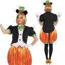 ハロウィン 仮装 大人 コスチューム ディズニー レディース パンプキンミッキー