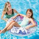 インテックス 浮輪 フロート ハイビスカス 59251/浮き輪 プール用直径91cm /Clear Color Tubes プール 海 川 海水浴 アウトドア キャンプ レジャー用品 水遊びの画像