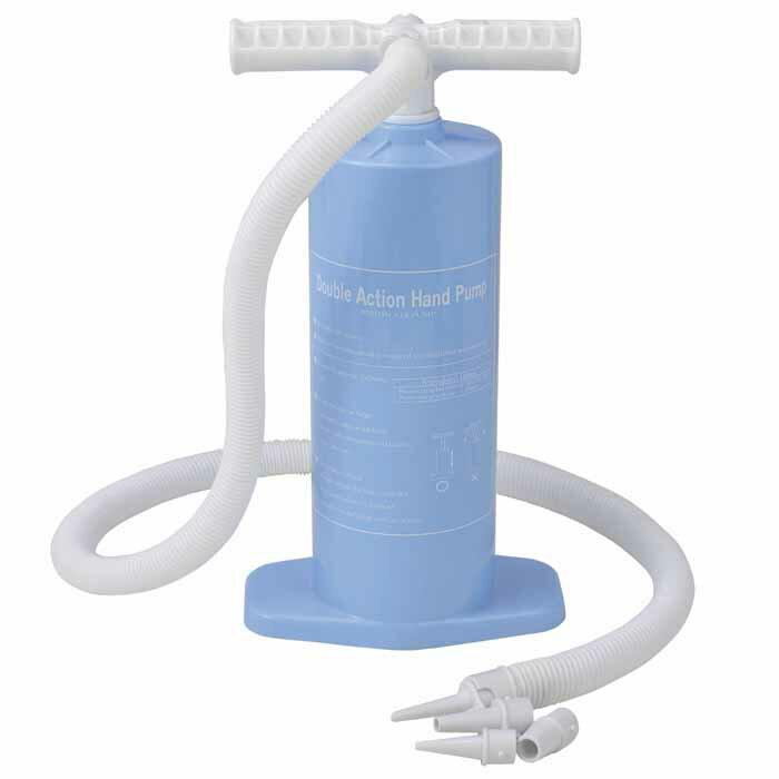 送料無料 ダブルアクション ポンプ 空気入れ ライトブルー ww100 プール 浮き輪 海水浴 キャンプの必需品 水遊び アウトドア用品 レジャー用品 子供にファミリー家族で