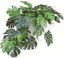 造花 グリーン インテリア 観葉植物 モンステラ 光触媒 MRポット 34×28×H19cm ミニ おしゃれ かわいい 葉っぱ ギフト お祝い 開店 開業 おすすめ 鉢 カフェ 玄関 リビング キッチン