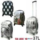 送料無料 キャリーケース 37L AIR LINEエアーライン AL5267 機内持ち込みサイズ 転写プリントスーツケース あす楽対応