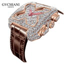 GVCHIANIб╩е╓е┴евб╝е╦б╦BIG SQUARE ROSE GOLD FULL DIAMOND TOURBILLON е╙е├е░е╣епеиев 18Kеэб╝е║е┤б╝еые╔ е╒еые└едефетеєе╔ 25елеще├е╚ е╚ееб╝еые╙ешеє е╣еде╣╣т╡щ╧╙╗■╖╫