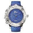 ガルーシャとスワロフスキーの腕時計 Galtiscopio(ガルティスコピオ) JOLI SIMPLE JS3 ブルー ガルーシャベルト