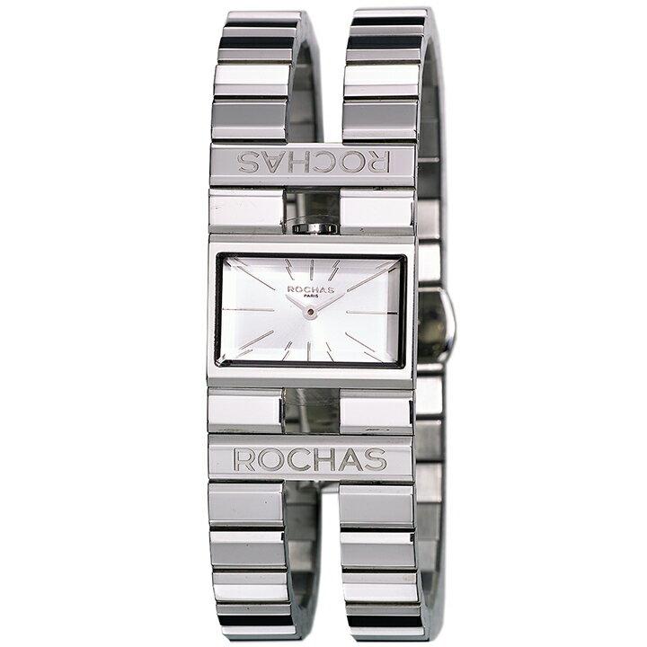 香水が世界的に有名なフランスのファッションブランド ROCHAS(ロシャス)のレディース腕時計 RJ43 シルバー/シルバー SSブレスレット バングルウォッチ [日本正規総代理店][正規輸入品][送料無料]フランスを代表する老舗メゾン ロシャスのレディース腕時計!【信頼性の高いです】