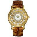 楽天GLOBAL BRANDING[ポイント10倍]フレグランスが世界的に有名なフランスのファッションブランド ROCHAS(ロシャス)のレディース腕時計 RJ06 シルバー/ゴールド/ブラウン スワロフスキー
