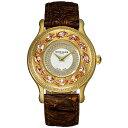 楽天GLOBAL BRANDING[ポイント10倍]フレグランスが世界的に有名なフランスのファッションブランド ROCHAS(ロシャス)のレディース腕時計 RJ07 シルバー/ゴールド/ダークブラウン スワロフスキー