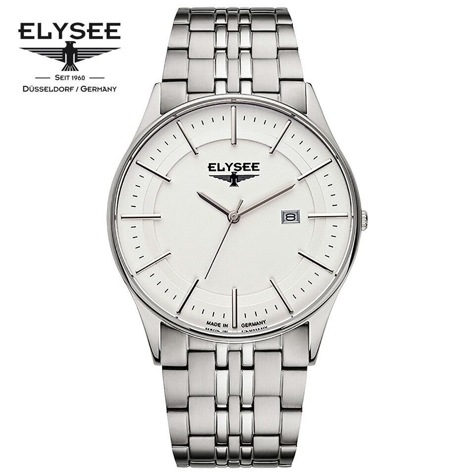ELYSEE(エリーゼ) ドイツ時計 DIOMEDES 2 83015 シルバー/シルバー 超薄型ケース SSブレスレット メンズ腕時計 [日本正規総代理店][正規輸入品][送料無料]ケース厚わずか6.5mmのエレガントな超薄型モデル