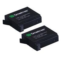 GoproHero4トリプルチャージャー急速充電器+1290mAh互換バッテリー2個+USBケーブル+ACウォールチャージャー+シガーソケット+EUプラグセットAHDBT-401smatree