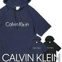 Calvin Klein Fashion Logo Lounge カルバンクライン ファッションロゴラウンジメンズ フード付 スウェット コットン100% 半袖パーカー5368-1494 NM1494日本サイズ(M L)男性 メンズ プレゼント ギフト 誕生日ポイント10倍